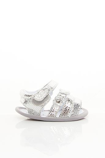 Sandales/Nu pieds gris CHICCO pour fille
