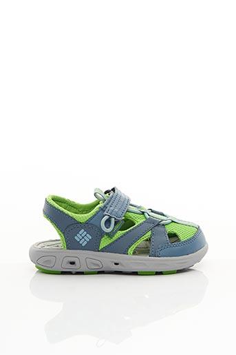 Sandales/Nu pieds vert COLUMBIA pour garçon