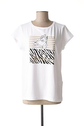 T-shirt manches courtes blanc BRANDTEX pour femme