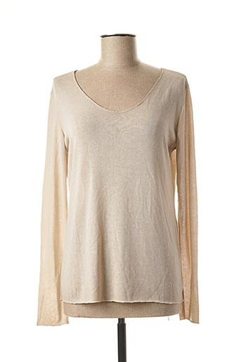 Pull col rond beige DONA LISA pour femme