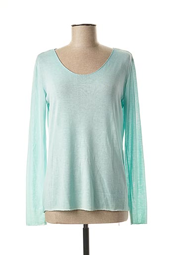 Pull col rond vert DONA LISA pour femme