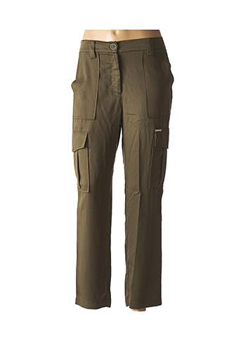 Pantalon casual vert JUS D'ORANGE pour femme