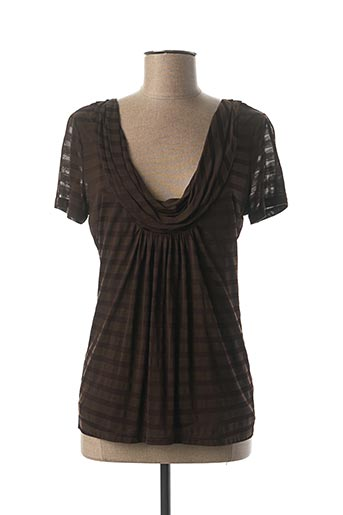 T-shirt manches courtes marron ESCORPION pour femme