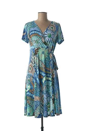 Robe mi-longue bleu A PARIS pour femme