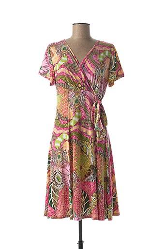 Robe mi-longue rose A PARIS pour femme