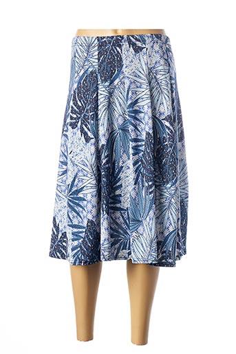 Jupe mi-longue bleu A PARIS pour femme