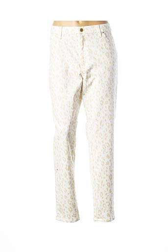 Pantalon casual beige LCDN pour femme