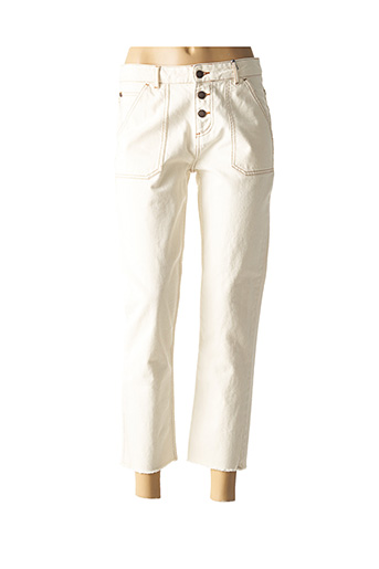 Jeans boyfriend beige LUK AP pour femme