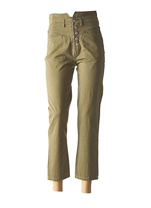 Jeans boyfriend vert CIMINY pour femme