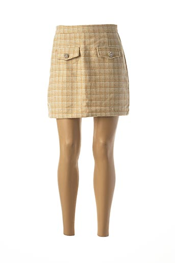 Jupe courte beige DAPHNEA pour femme