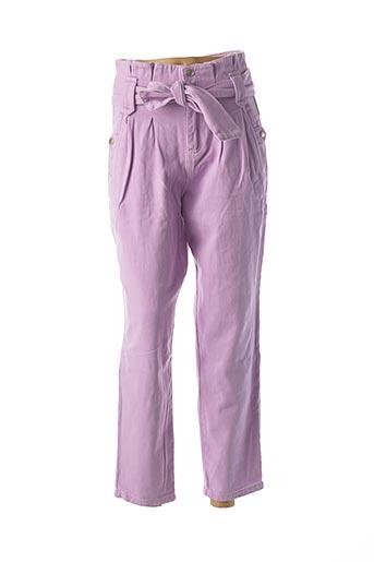 Pantalon casual violet FEELHOO pour femme