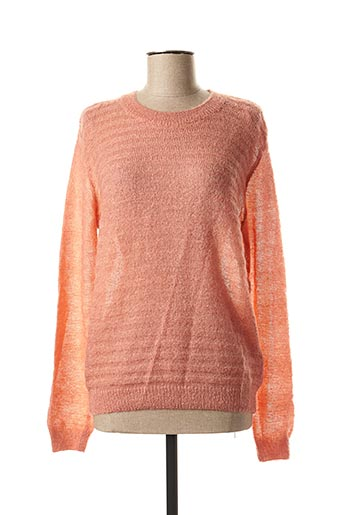 Pull col rond rose CKS pour femme