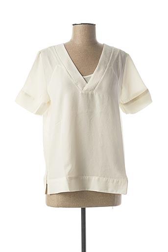 T-shirt manches courtes blanc ICHI pour femme