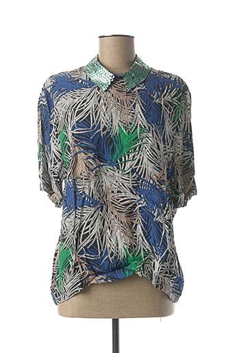 T-shirt manches courtes bleu CKS pour femme