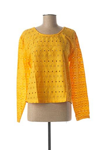 Top jaune ICHI pour femme