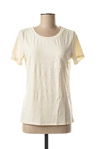 T-shirt manches courtes beige ICHI pour femme