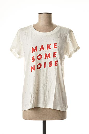 T-shirt manches courtes blanc CKS pour femme