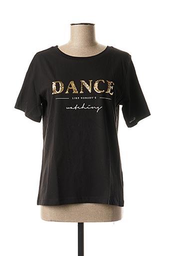 T-shirt manches courtes noir ICHI pour femme