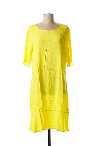 Robe mi-longue jaune CKS pour femme