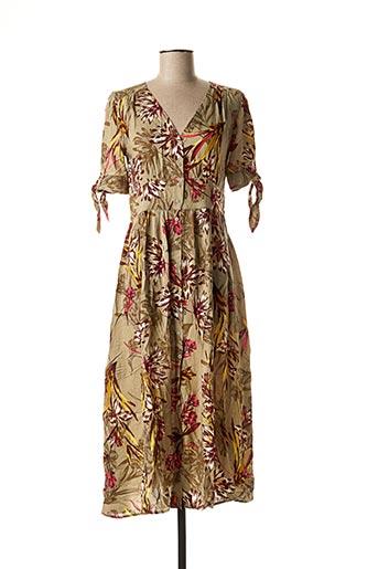 Robe mi-longue marron BEST MOUNTAIN pour femme