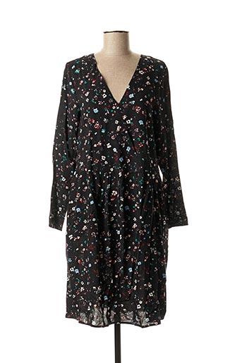 Robe mi-longue noir ICHI pour femme