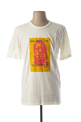 T-shirt manches courtes blanc THE ROLLING STONES pour homme