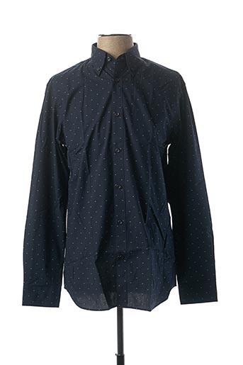 Chemise manches longues bleu SELECTED pour homme