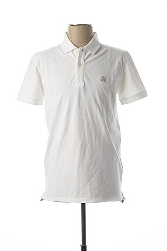 Polo manches courtes blanc SELECTED pour homme