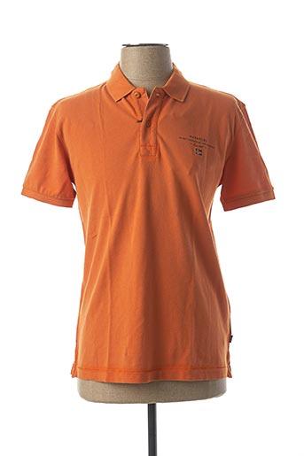 Polo manches courtes orange NAPAPIJRI pour homme
