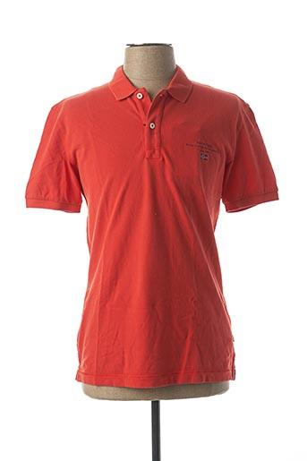 Polo manches courtes rouge NAPAPIJRI pour homme