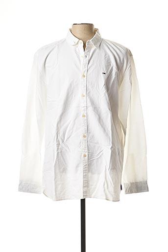 Chemise manches longues blanc TOMMY HILFIGER pour homme