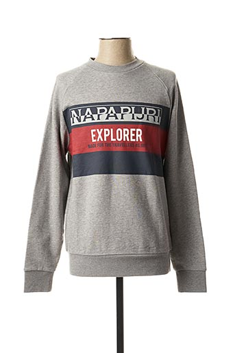 Sweat-shirt gris NAPAPIJRI pour homme