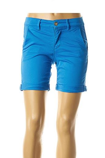 Bermuda bleu HAPPY pour femme