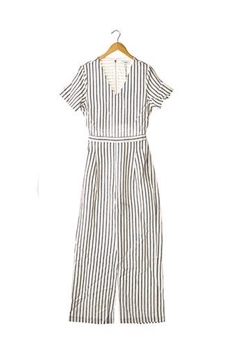 Combi-pantalon blanc SUNCOO pour femme