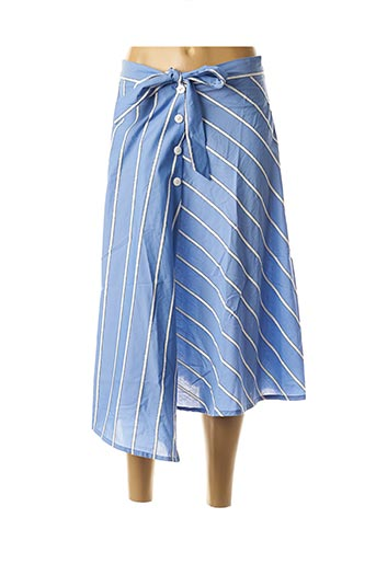 Jupe mi-longue bleu CKS pour femme