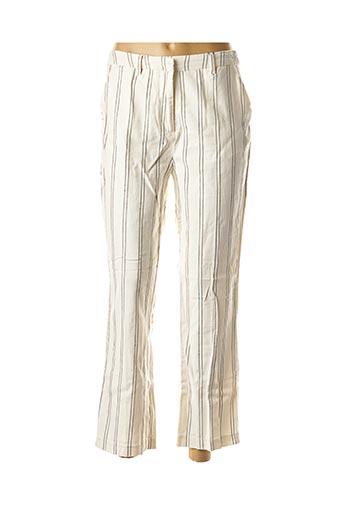 Pantalon 7/8 blanc CKS pour femme