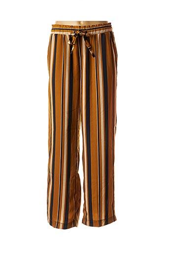 Pantalon chic jaune GRACE & MILA pour femme