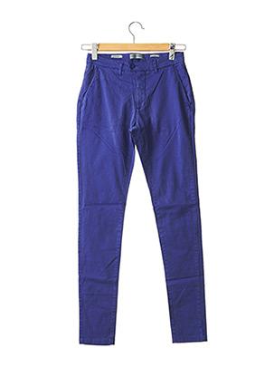 Pantalon chic bleu CASUAL FRIDAY pour homme