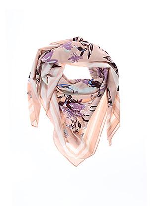 Foulard rose PIECES pour femme