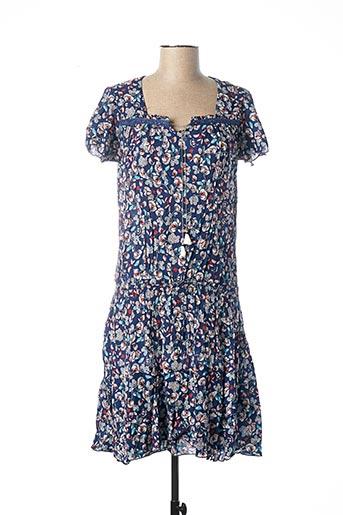 Robe mi-longue bleu BREAL pour femme