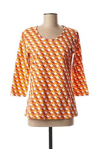T-shirt manches longues orange JENSEN pour femme