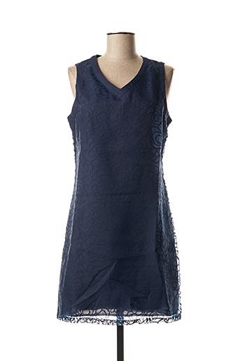 Robe mi-longue bleu A BELLE pour femme