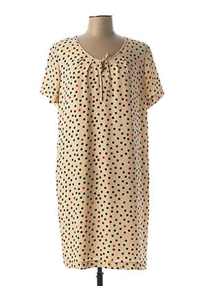 Robe mi-longue beige TELMAIL pour femme