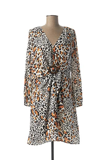 Robe mi-longue orange JUS D'ORANGE pour femme