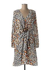 Robe mi-longue orange JUS D'ORANGE pour femme seconde vue