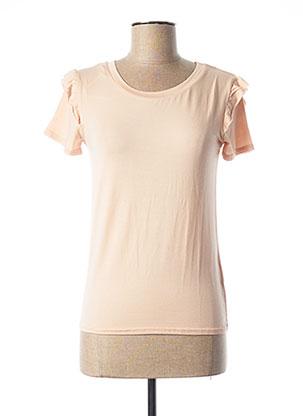 T-shirt manches courtes rose TEDDY SMITH pour femme