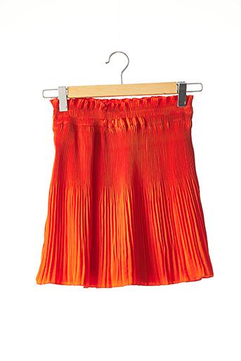Jupe courte orange SANS MARQUE pour femme