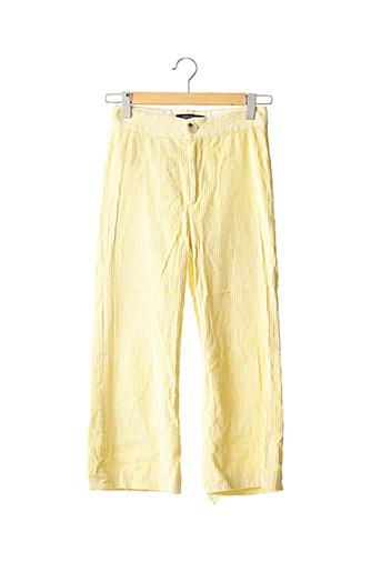 Pantalon casual jaune ZARA pour femme