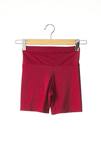 Short rouge SANS MARQUE. pour femme