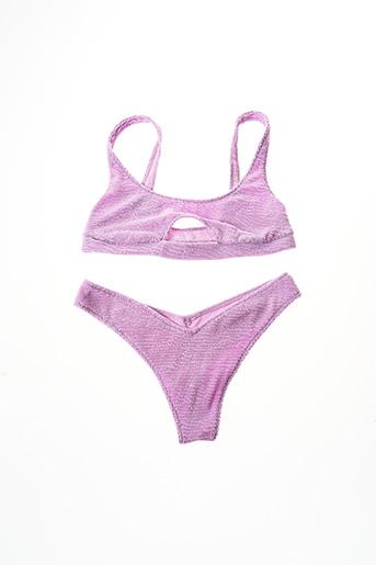 Maillot de bain 2 pièces violet CALZEDONIA pour femme